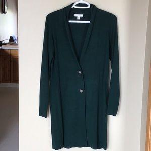 ⭐️Sale 3/$20 Long Emerald green Camber & Grace cardigan, sz XS